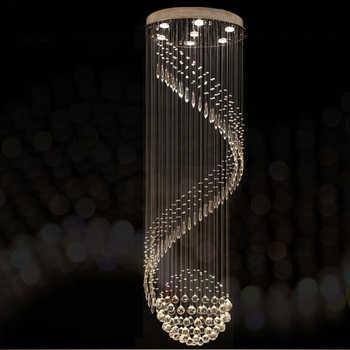Modern Crystal Chandelier For Spiral Design LED Luxury Crystal Lamp Hanging Interior Ladder Corridor Lamp - DISCOUNT ITEM  50% OFF All Category