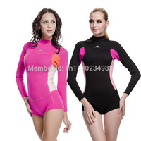 SBART New Style Neoprene Wetsuit Women 2MM Surfing Wetsuits One Piece Swimming Snorkeling Diving Wet Suit Long Sleeve Swimming