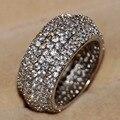 Victoria Wieck Luxo 330 pcs minúsculo Branco sapphire 925 anel de prata esterlina CZ Diamante Banda de Noivado Casamento Mulheres Anéis de Tamanho 5-11