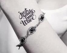 (Min Order $0.5) Waterproof Temporary Tattoo Tatoo Henna Fake Flash Tattoo Stickers Taty Tatto Just SMILE SYA035
