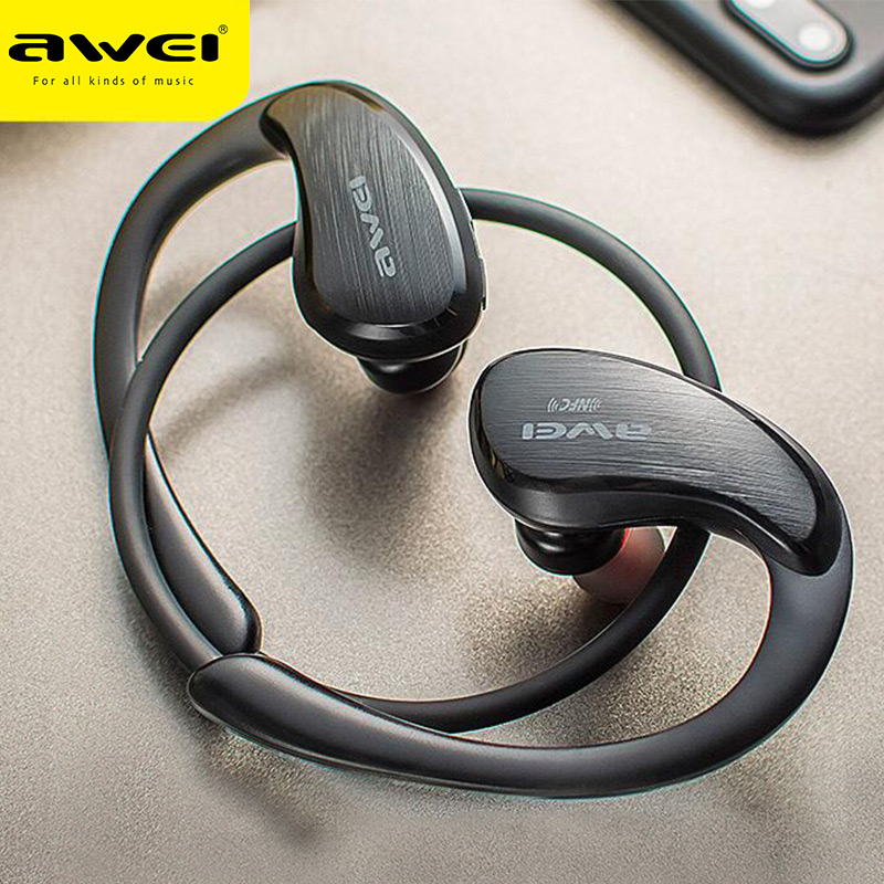 AWEI A885BL APT-X Wireless Bluetooth Earphones Sport Ear-hook HiFi Stereo Bass Lossless Sound Sound NFC Fast Connet Charging