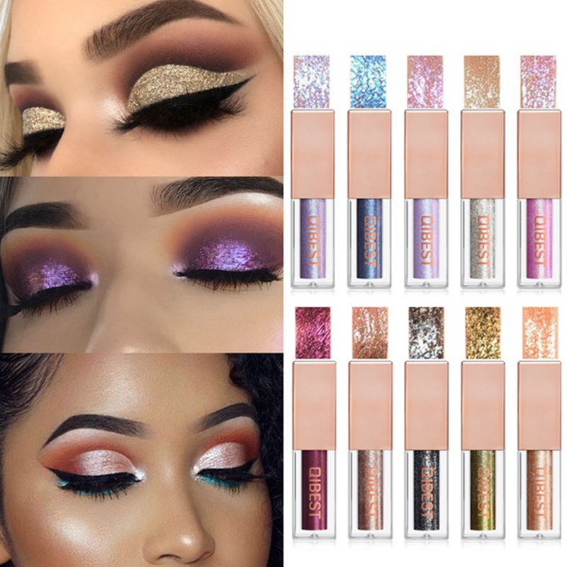 15 Colors Eyeshadow Glitter Liquid Easy To Wear Makeup Long Lasting Eyes Glow Shimmer Shiny Pigments