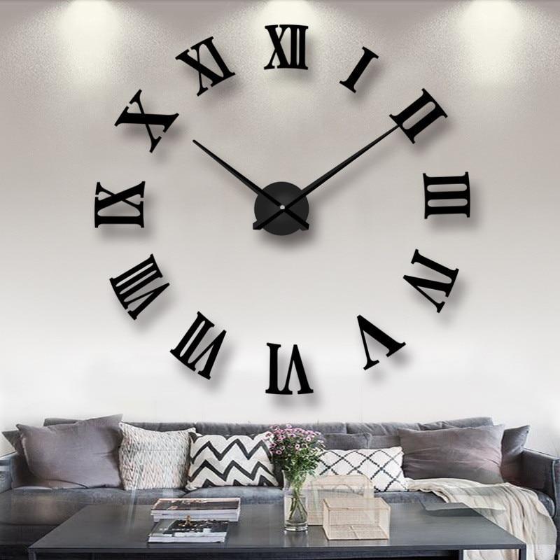 Large Wall Clocks Home Decor Diy Clock Mechanism Wall Watch Horloge Digitale Reloj De Pared Digital Relogio De Parede Grande