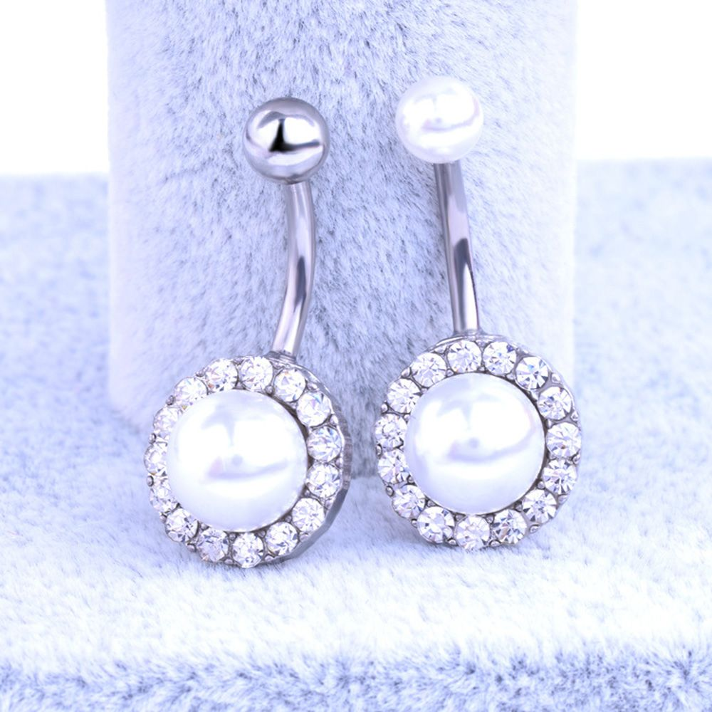 HTB1AMp9RFXXXXcGXpXXq6xXFXXXr Elegant Pearl Button Ball Belly Button Ring Jewelry - 3 Styles