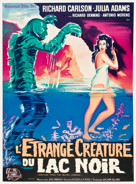 Sci-Fi Beauty Creature from the Black Lagoon (1954) Movie Film Retro Vintage Kraft Poster Canvas Wall Sticker Home Decor