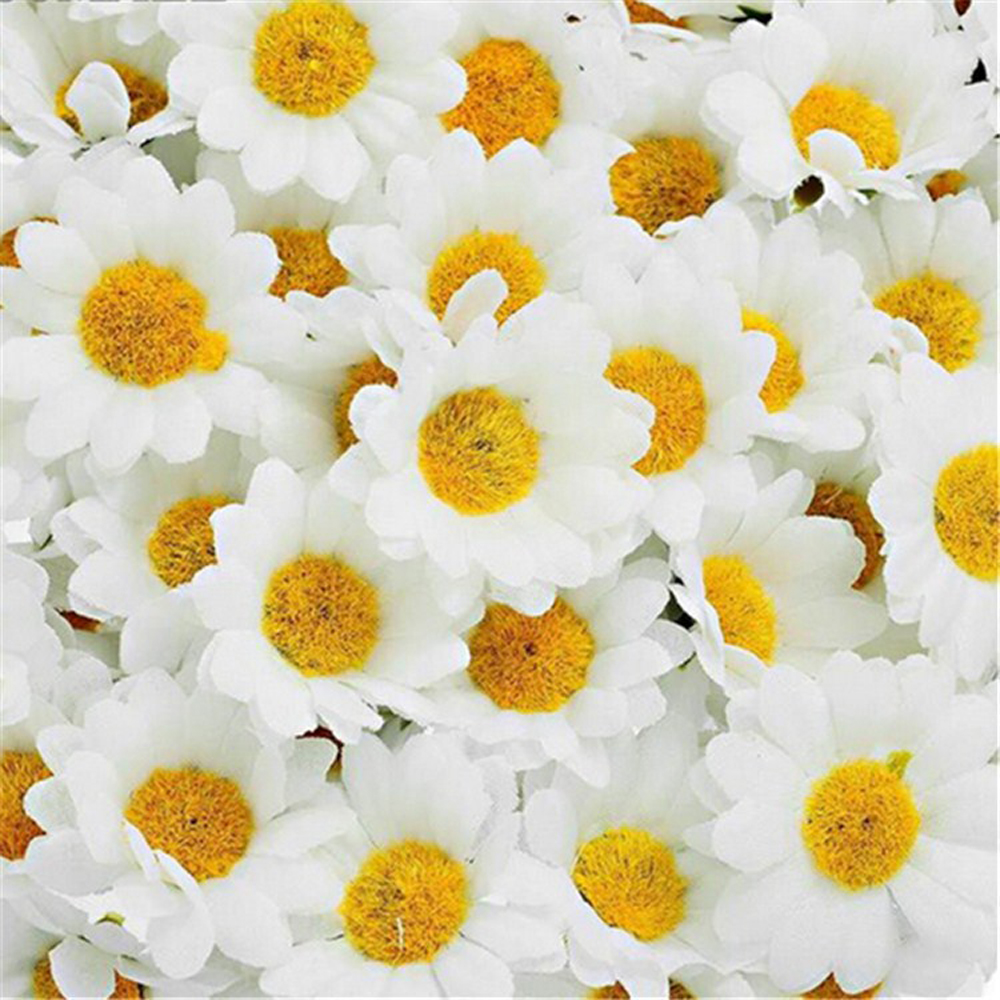 100 unids 4 cm falso artificial gerbera margarita flores de seda heads diy hecho