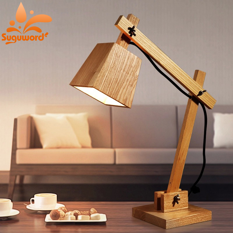 Creative Wood art Lighting Town Lighting Wood Dog table lamp Reading Light ...