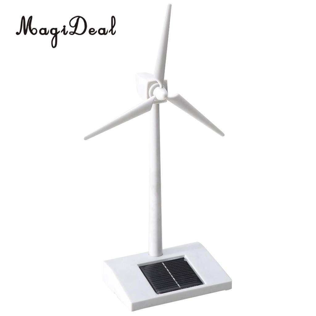 MagiDeal Desktop Tabel Model Solar Powered Windmill Rotating Wind Model Toy Novelty Gift for Kids Children