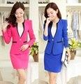 2015 новое поступление Большой размер 4XL осень зима формальные офис единую конструкцию женщин деловые костюмы с юбкой блейзер устанавливает рабочая одежда