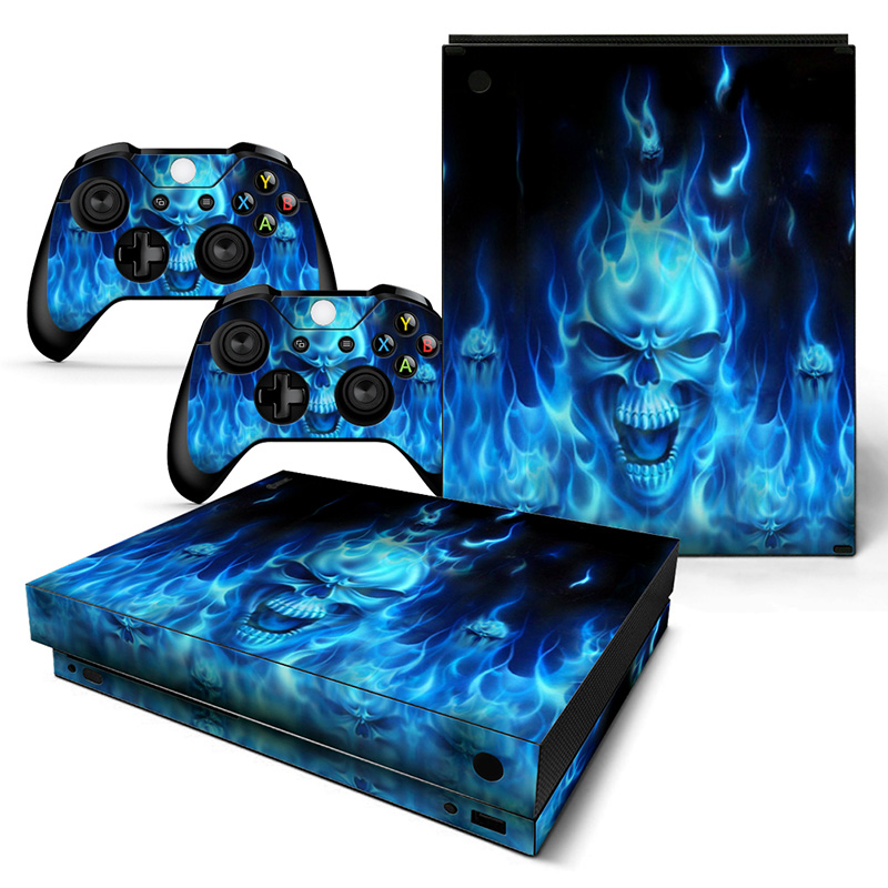 Free drop shipping Cool top quality skin decal sticker for XBOX one X accessories #TN-XBONEX-0867