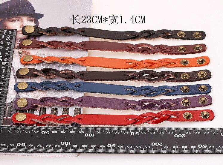 Pk0407 Stock Factory Price Studs On Leather Bracelet Whole Blanks