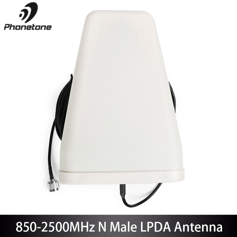 800-2500 MHz Extérieure LPDA Antenne Pour téléphone portable Signal Booster Amplificateur 10dbi GSM 3G Directionnelle LTE et 10 m Câble N connecteur mâle