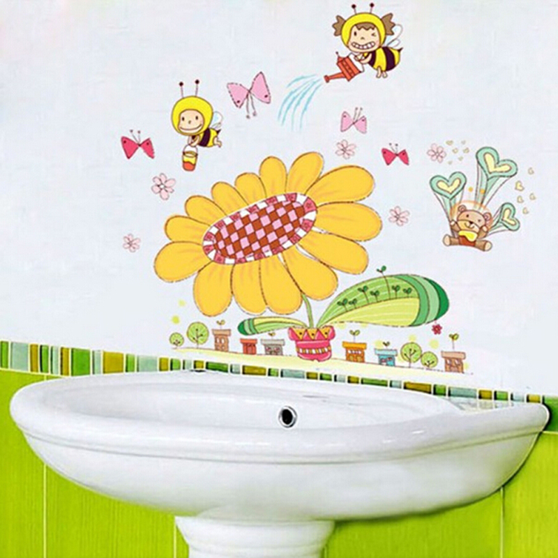 Removable wall stickers cute cartoon children room nursery classroom ...