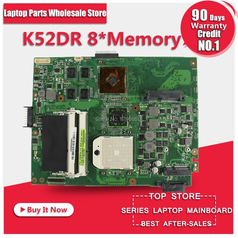 for asus A52DE K52DE A52DR K52DE K52DR K52DY X52D X52DR X52DE Motherboard DDR3 Mainboard 100% tested for asus k52 x52j a52j k52j k52jr k52jt k52jb k52ju k52je k52d x52d a52d k52dy k52de k52dr audio usb io board interface board