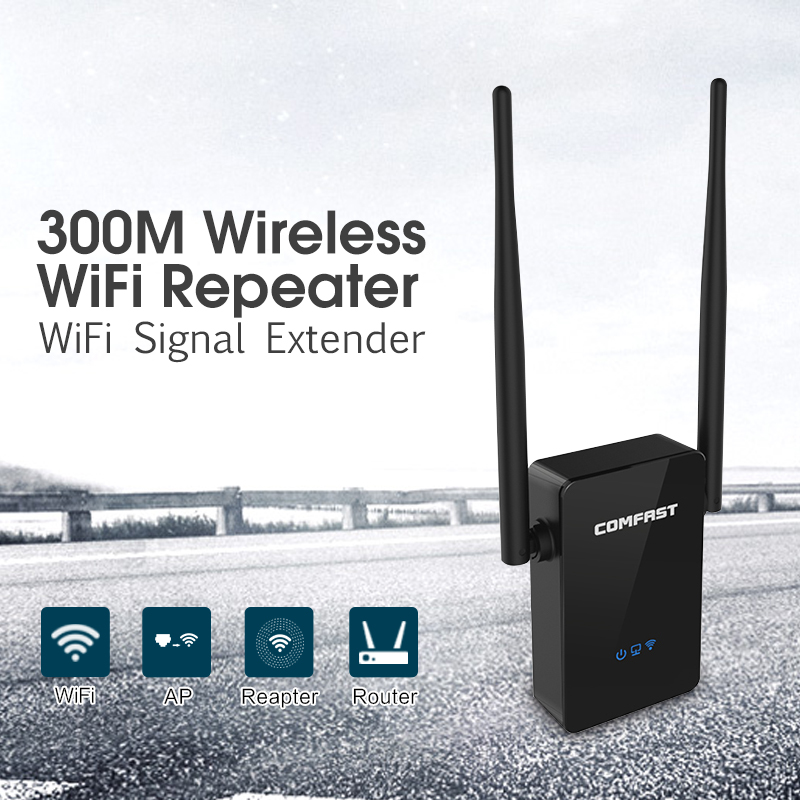 10PCS COMFAST CF-WR302S Wireless WIFI Router Repeater 300M 2* 5dBi Antenna Wi-fi 802.11N/B/G Roteador Wi fi Range Extender