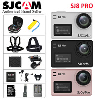 В наличии! SJCAM SJ8 Pro 1290 P 4 К 60fps Wi Fi пульт дистанционного Anti Shake двойной Сенсорный экран Шлем Спорт DV действие Камера другие аксессуары