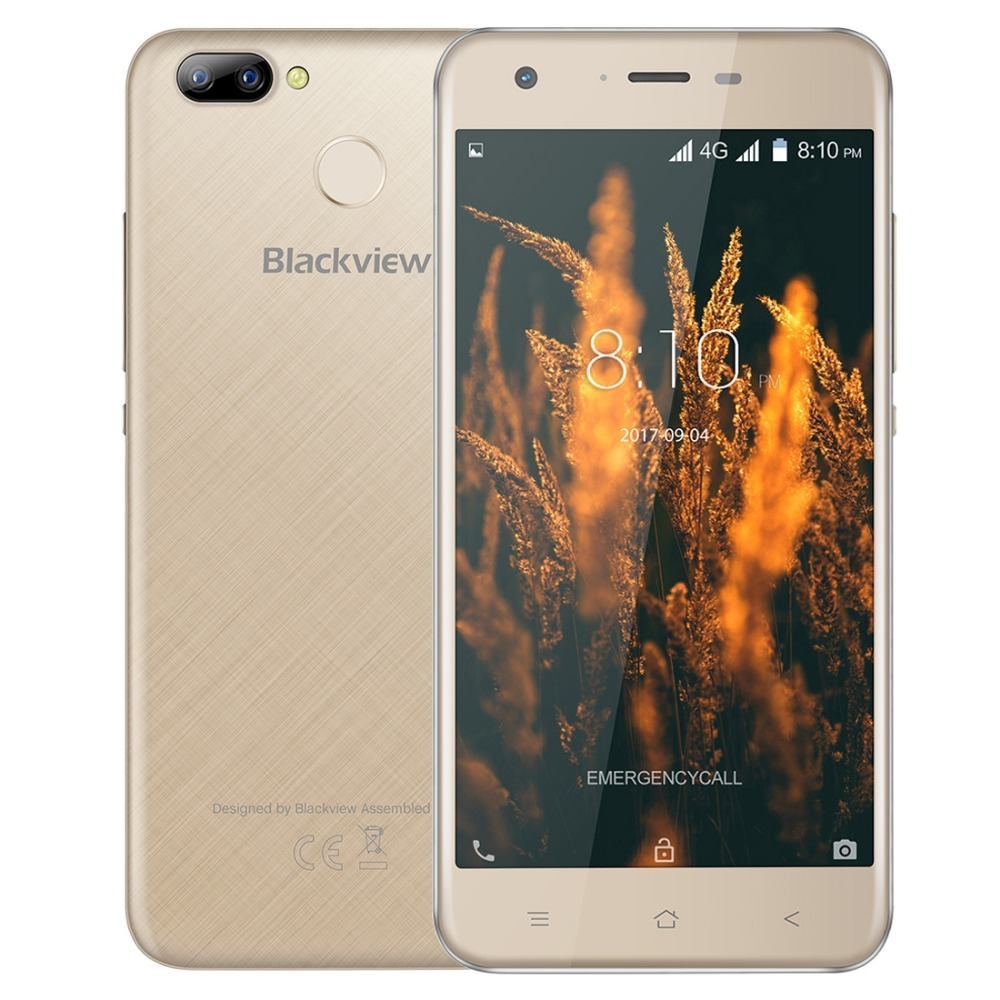 "Blackview A7 Pro 4G Smartphone 5.0"" MTK6737 Quad core Android 7.0 2GB 16GB 8.0MP+0.3MP Dual Rear 5.0MP Front Camera Mobile Phone"