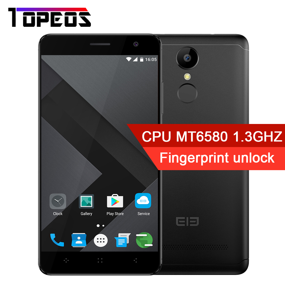 ELEPHONE A8 MTK MT6580 Quad Core Smartphone Android 7.0 1GB RAM 8GM ROM 5.0 inch Fingerprint 3G WCDMA Cell Phone