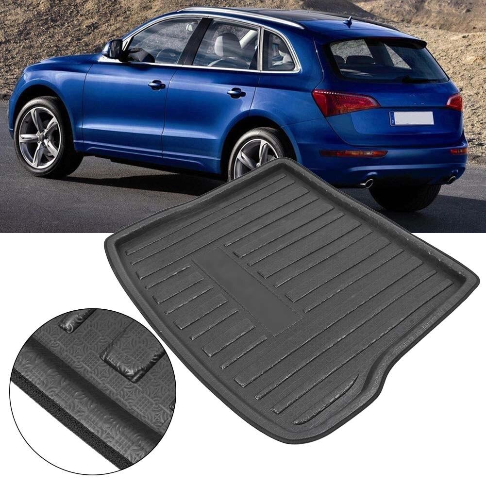 Для Audi Q5 задний багажник Коврики для багажника загрузки Коврики туннеле Ковры грязи Kick Защитная крышка 2010-2016 автомобильный Запчасти интимн... ...