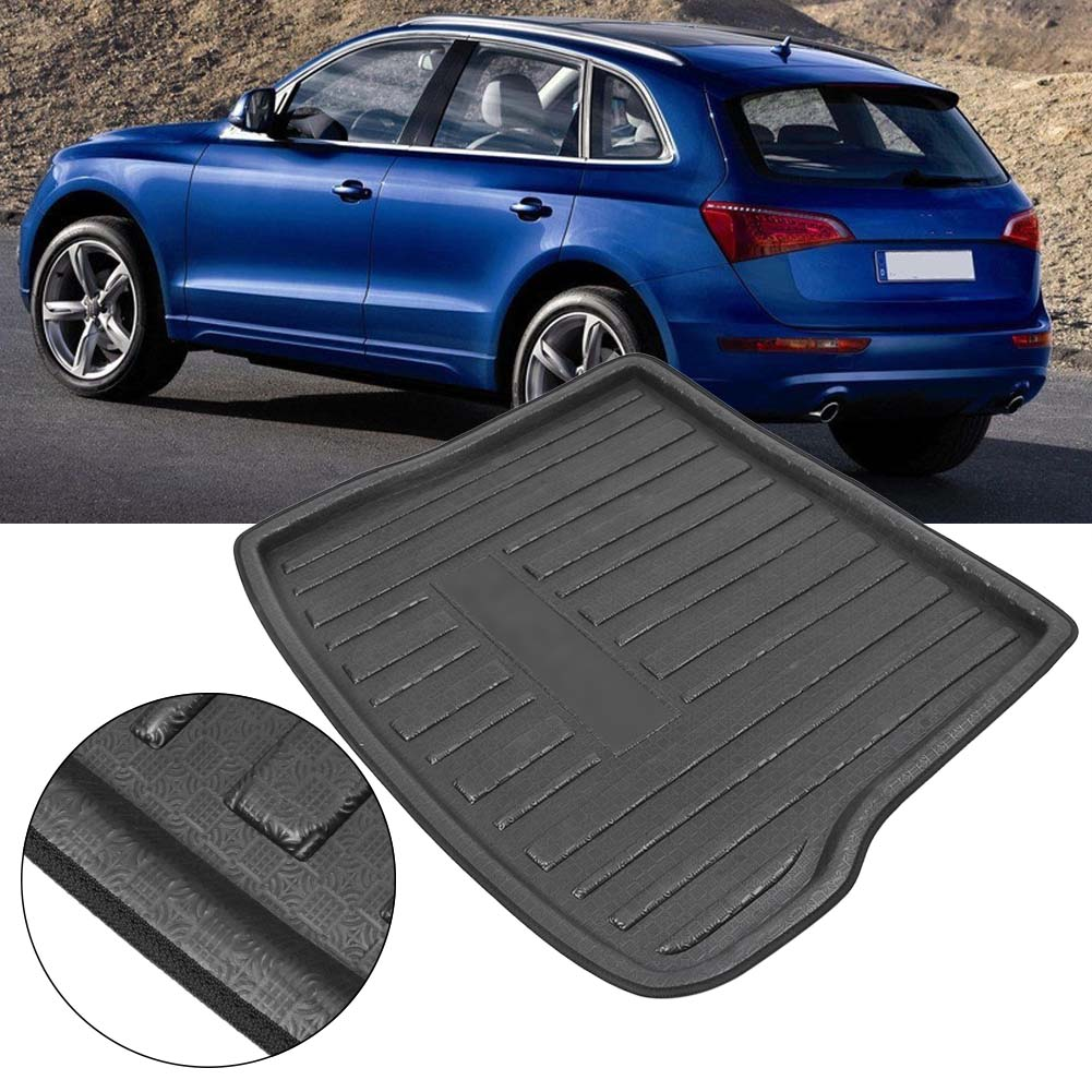 For Audi Q5 Rear Trunk Cargo Liner Boot Mat Floor Tray Carpet Mud Kick Protector Cover 2010-2016 Automobile Parts Accessories