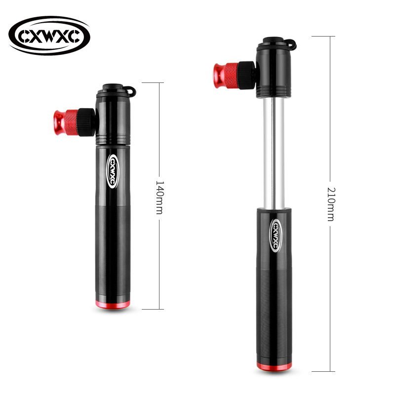 Bike Pump Mini 160psi Schrader Presta Valve Co2 Combo Portable Inflator MTB