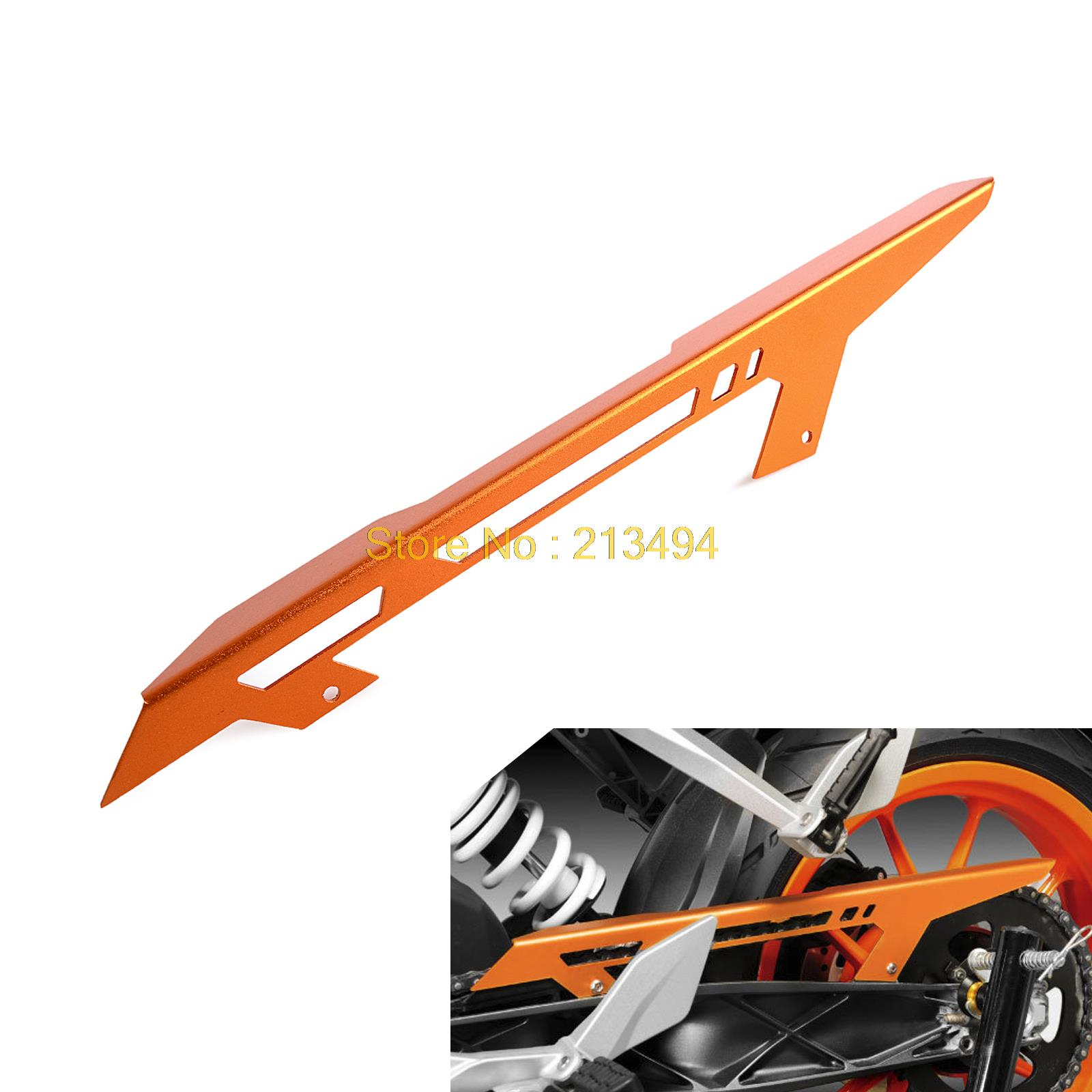 NICECNC Orange Anodized Chain Guard Cover For KTM 125 200 390 Duke 2011 2012 2013 2014 2015 2016 RC125 RC200 RC390 image