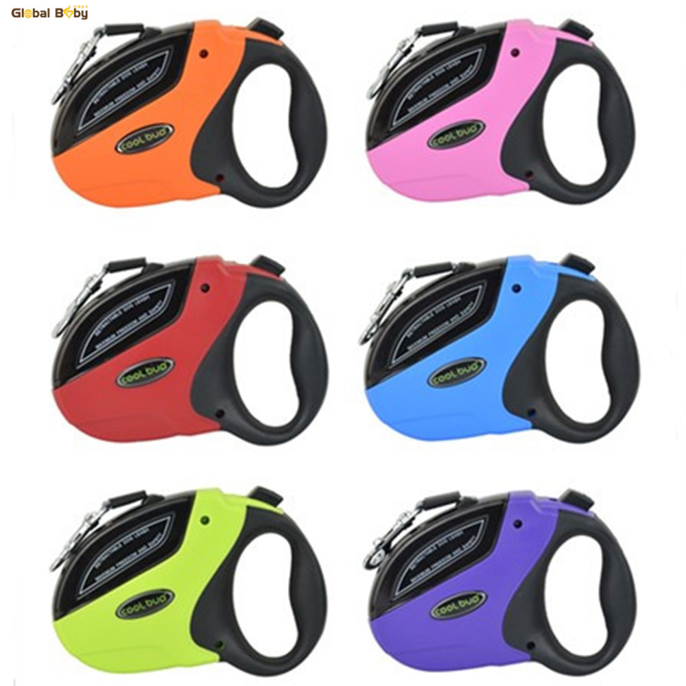 High Quality Brand 5M Automatisk Retractable ABS Car Nylon Medium Large Dog Pet Lead Leashes