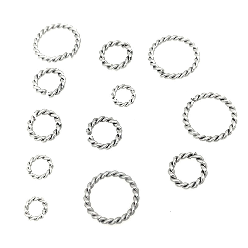 50pcs/lot spiral Stainless Steel Open Jump Rings 6/8/10/12/15mm Silver Tone Split Rings Connectors For Jewelry Findings Making50pcs/lot spiral Stainless Steel Open Jump Rings 6/8/10/12/15mm Silver Tone Split Rings Connectors For Jewelry Findings Making