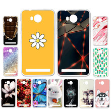 Ojeleye DIY Patterned Silicon Case For Huawei Y3 II Soft TPU Cartoon Cover ii LUA-L02 Covers Anti-knock Shell