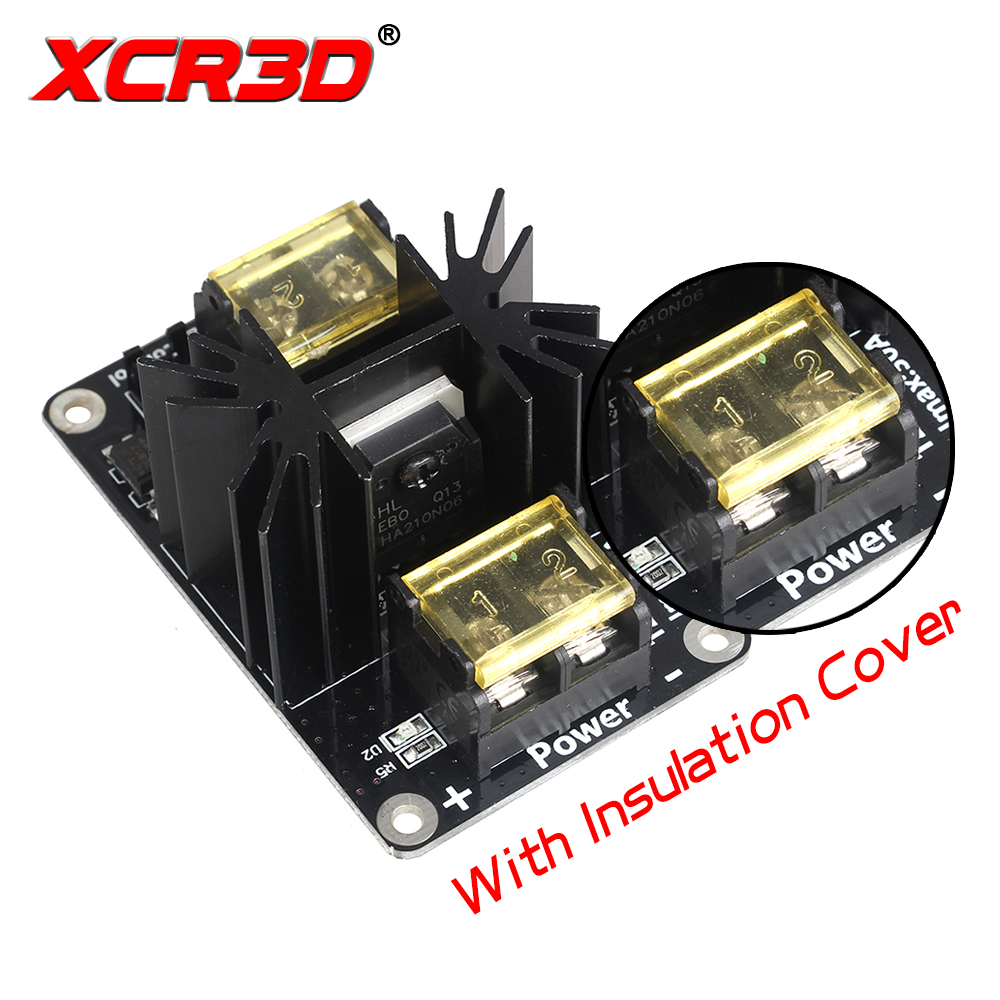 XCR3D 3D Printer Parts Heated Bed Power Expansion Module Hot Bed High Current Load Board MOS Tube with Cable Insulation Cover expansion module elc md204l text panel