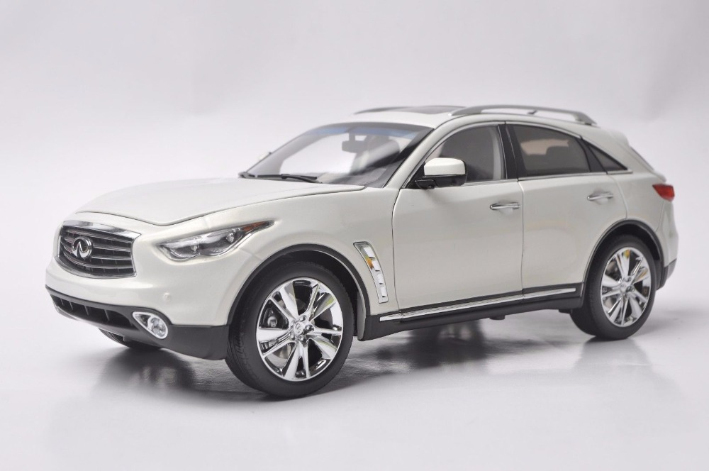 1:18 Diecast Model for Infiniti QX70 2014 White SUV Alloy Toy Car Miniature Collection Gift FX50 FX 1 18 vw volkswagen teramont suv diecast metal suv car model toy gift hobby collection silver