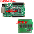RV901T LED receiving card with 1pc HUB40A adapter card RV901 RV801 HUB40 HUB75B HUB75 3pcs/lot