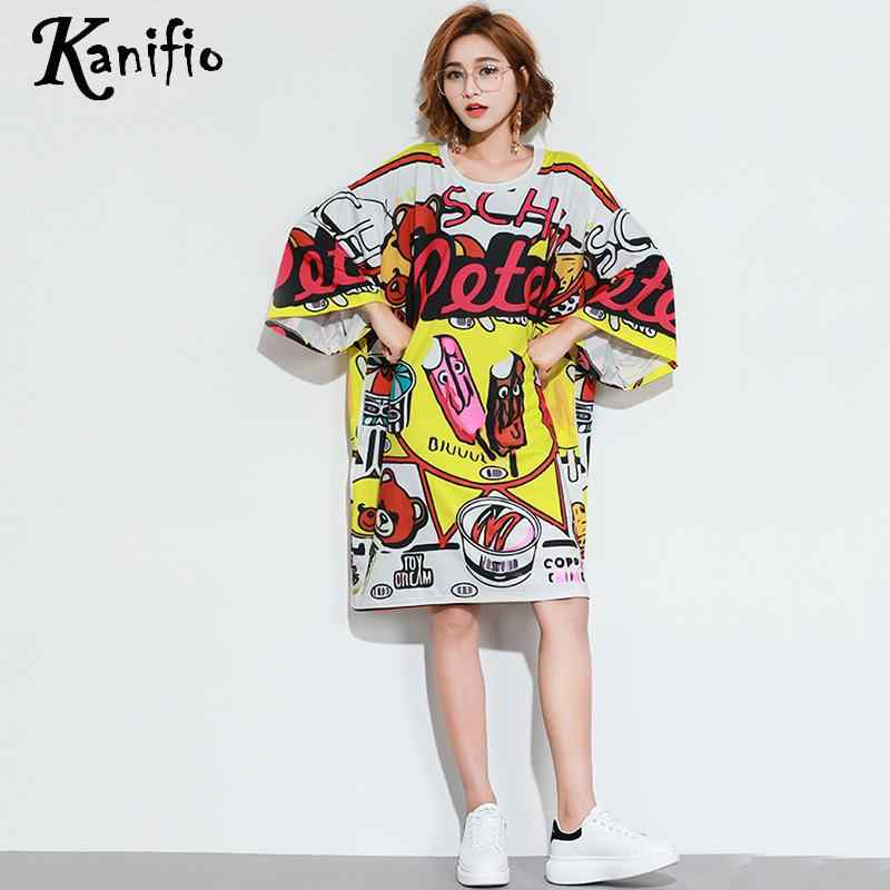 Kanifio Brand Plus Size Women Clothing Fashion Print Dress Lady Casual  Loose Dresses Female Long Shirts 224614ba070f