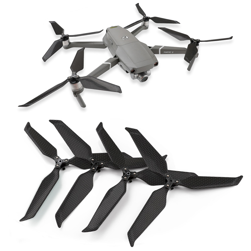 8743 Full Carbon Fiber Propellers 8743F Foldable Low Noise CW CCW Props Paddle For DJI Mavic 2 Pro / Zoom Drone RC Quadcopter