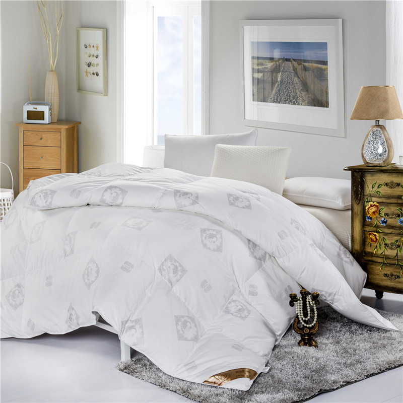 warm white goose feather down comforter full size queen size king size white and - Queen Down Comforter