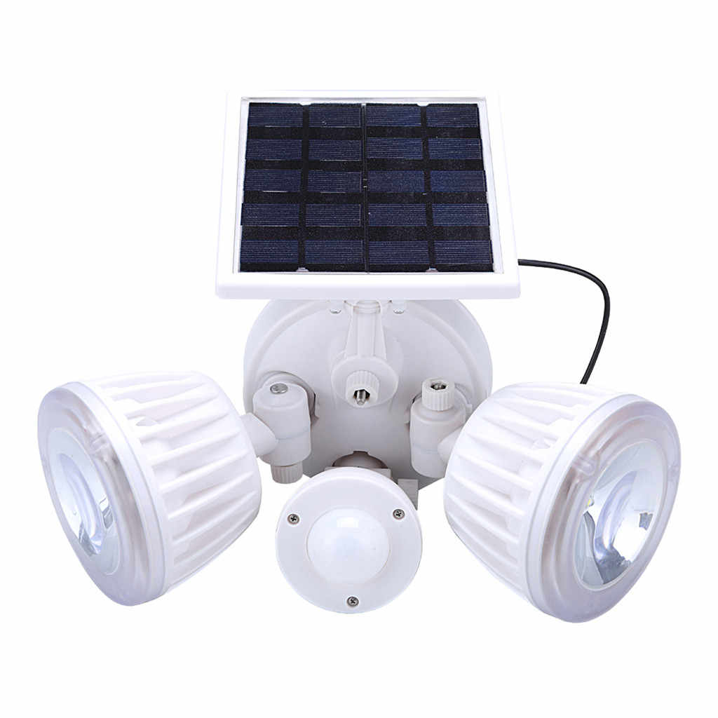 22LED المزدوج الأمن كاشف الطاقة الشمسية بقعة ضوء محس حركة مصباح شمسي في الهواء الطلق الشمسية PIR كبير التوأم رئيس الأضواء أداة