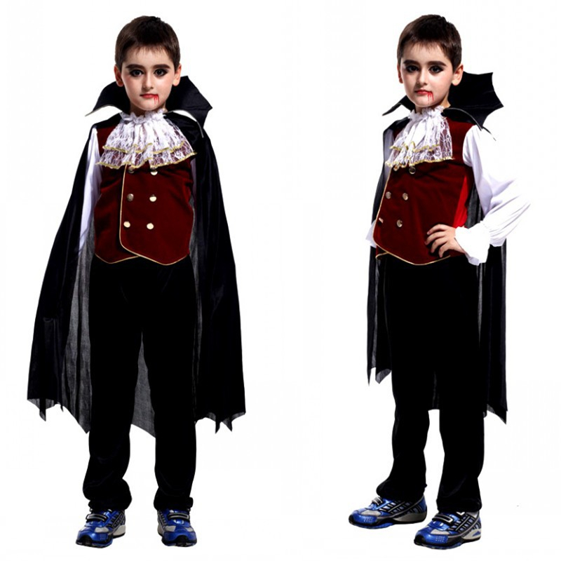 Halloween Costume Boys carnival dracula vampire cosplay costume child's noble Vampire Clothing Kids Vampire Alexander Costumes
