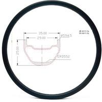 Graphene carbon mtb disc rims 27.5er 35x25mm symmetry tubeless mtb disc rim carbon rims 650b bicycle rim AM 400g bike wheel