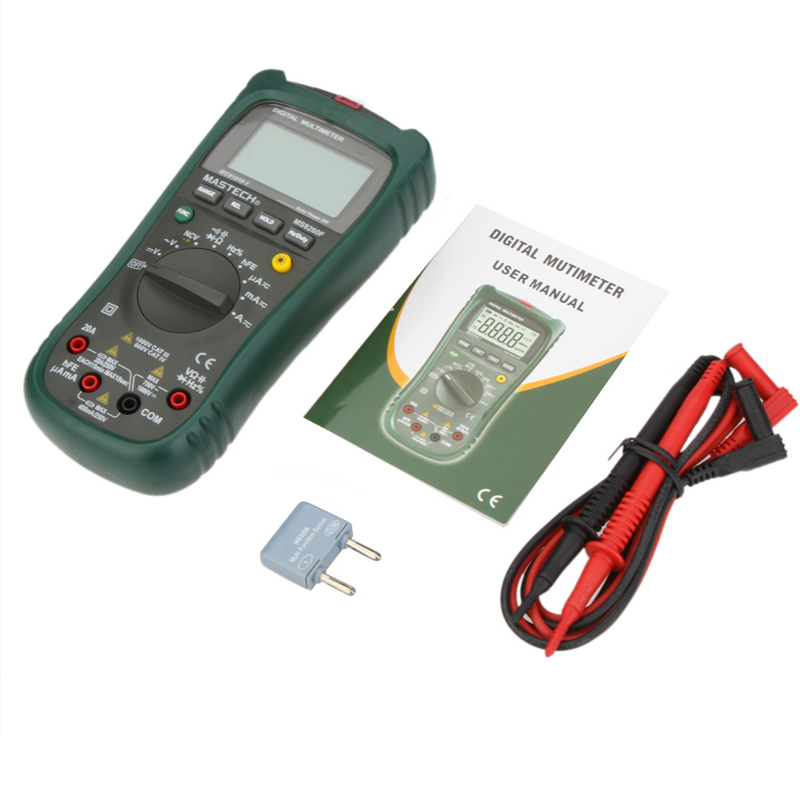 1pcs MASTECH MS8260F Auto Range Digital Multimeter DMM Frequency Capacitor NCV hFE tester comprobadores multimetros multimetr  цены