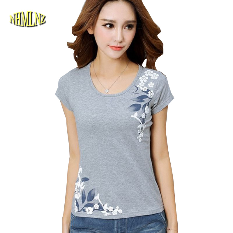 fa37900418847 ... Summer Tops New National Style Ladies Fashion Tops Printed Cotton Summer  Tops New National Style Ladies Fashion Tops Printed Cotton Short sleeve T  shirt ...