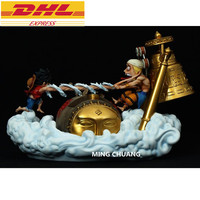 Статуя ONE PIECE Пираты Соломенная шляпка Monkey D. луффи VS Enel статуя GK 43 см фигурку Коллекционная модель Toy BOX D718