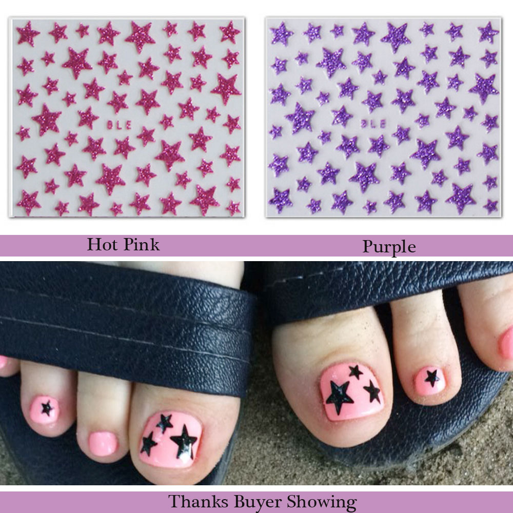 Stickers decals nail stickers nail art decals fashion - 1sheets Fashion 3d Diy Glitter Star Nail Art Shinning Of Nail Stickers Decals Accessory Tools Nails Tips Toes Manicure Trnc132 In Stickers Decals From