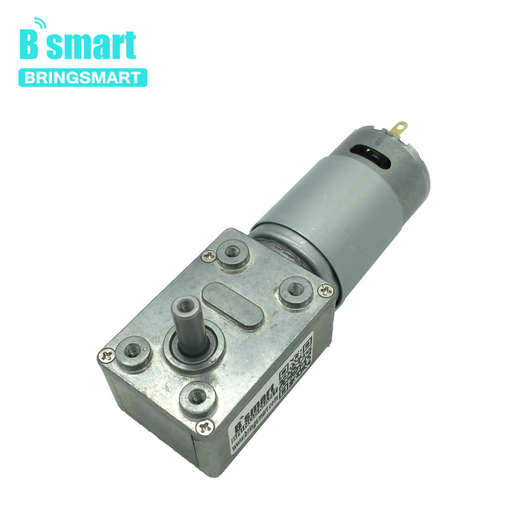 Worm Gear Motor DC 12 Volt Reducer Motor 12V Worm Reduction Gearbox Engine Self-Locking Geared Motor JGY-395 Brush Motor