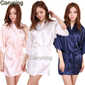 RB029  2016 New Arrival Short Style Woman Silk Kimono Robes ,Wedding Party Bridesmaid Robe