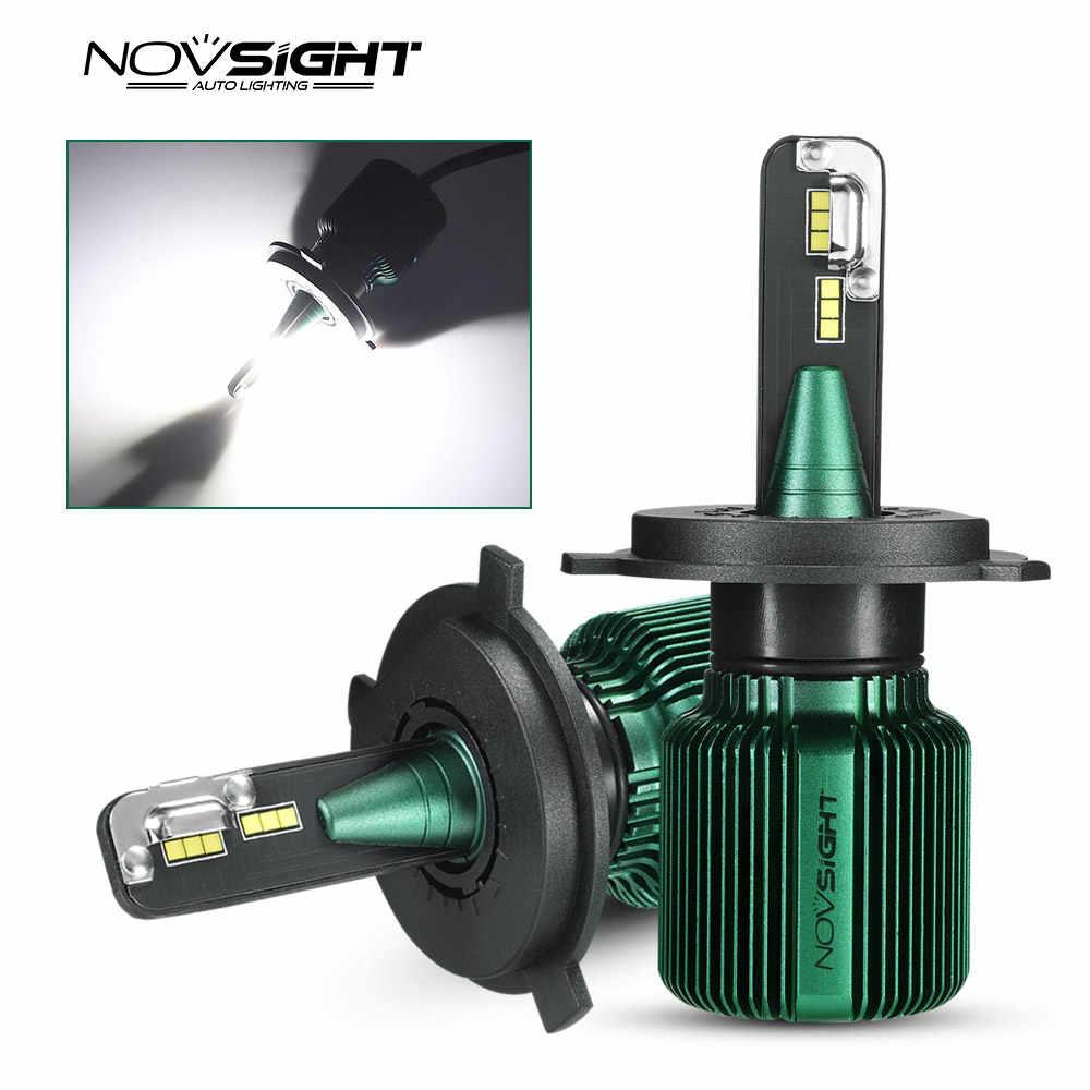 NOVSIGHT mini size 6500k White H4 LED H7 H11 H8 9005 HB3 9006 HB4 Auto Headlight Bulbs 40W 10000LM Car Styling For Honda Hyundai