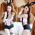 Triangle Bib Overall Bunny Rabbit Halloween Costumes for Women Jazz Dance Sexy Lingerie Set Cute Lovely Adult Sex Game Uniforms