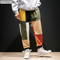 Streetwear Men Harem Pants Baggy Trousers Cross pants Wide Legs 5XL Loose Dance Pants Drop Crotch Men Clothes New 2019