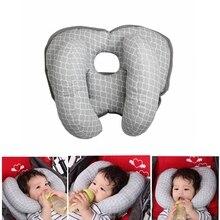 Детское автомобильное безопасное сиденье для головы, вспомогательная хлопковая детская коляска для сна, плюшевая смягчающая Подушка для ребенка, подушка для защиты головы