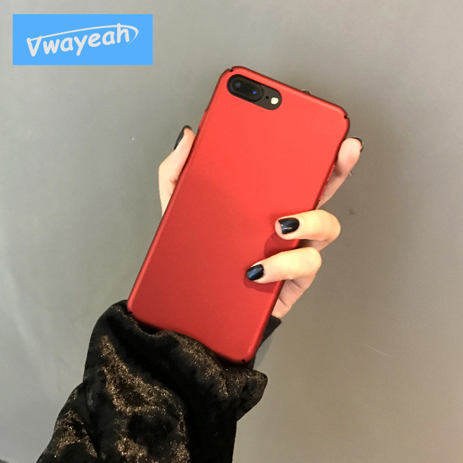 Ins Hot Pure Wine Red Multicolor Grind Arenaceous Feel Cheap Hard Matte Glossy Full Protect Slim Case For iPhone x 10 6 7 8 Plus