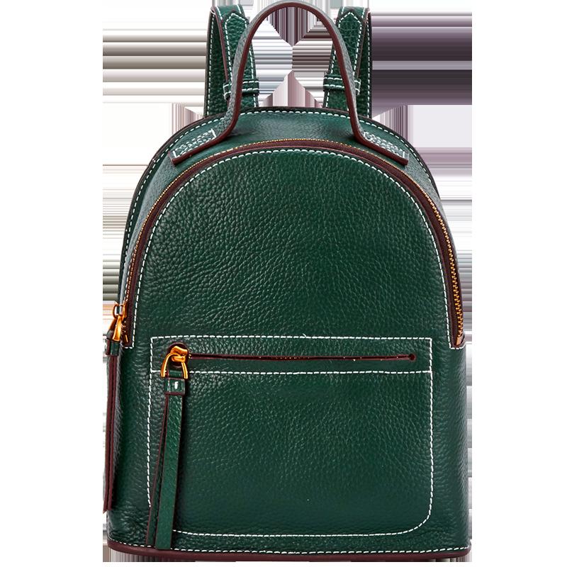 Bostanten Fashion Genuine Leather Backpack Women Bags Preppy Backpack Girls School Bags Zipper Leather Backpack